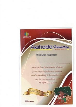 akshada certificate